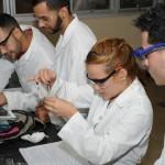Estudiantes en Laboratorio