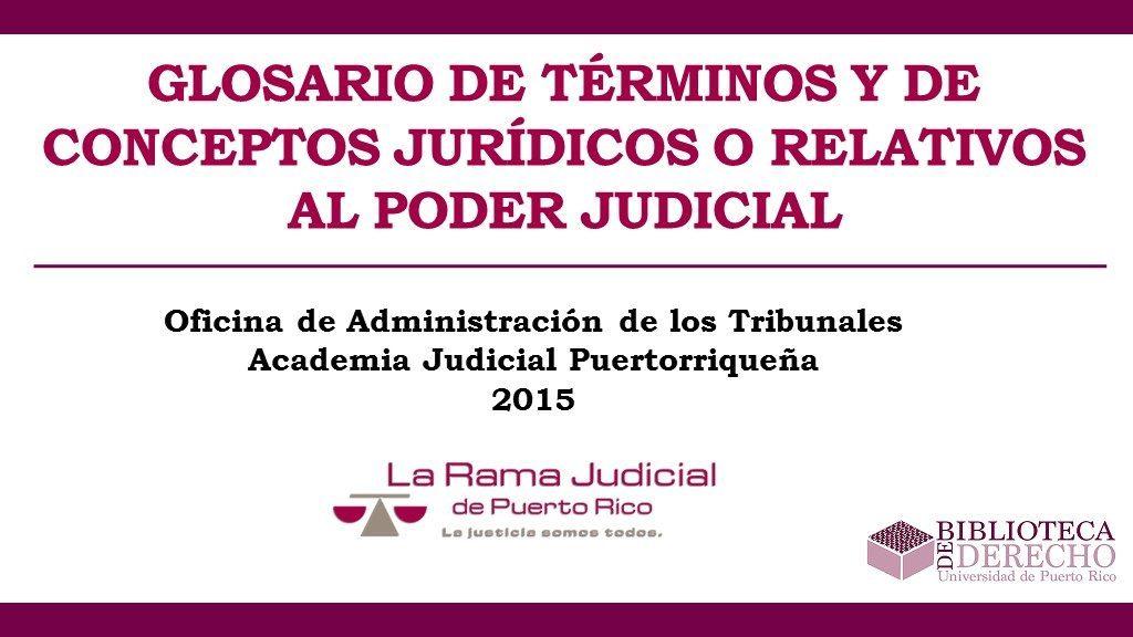 Glosario de Términos y Conceptos Jurídicos - Presentación