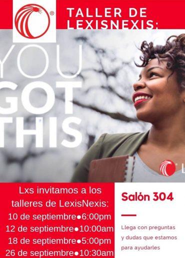 Promo del Taller de LexisNexis 2018