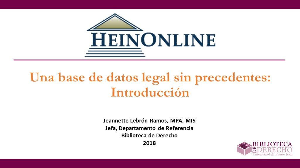 Una base de datos legal sin precedentes: Introducción - Presentación