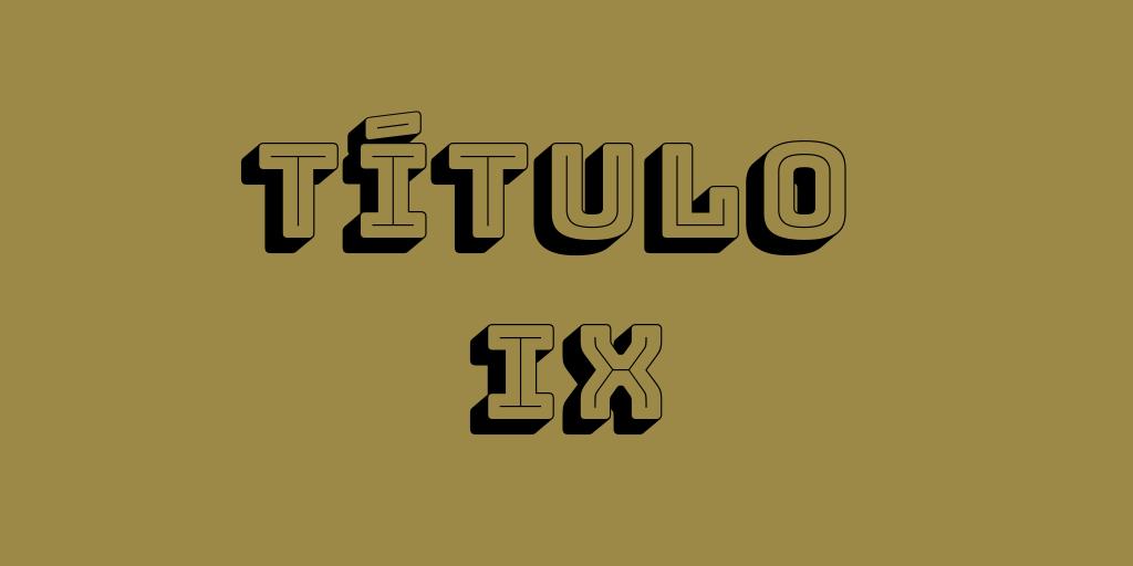 TÍTULO IX