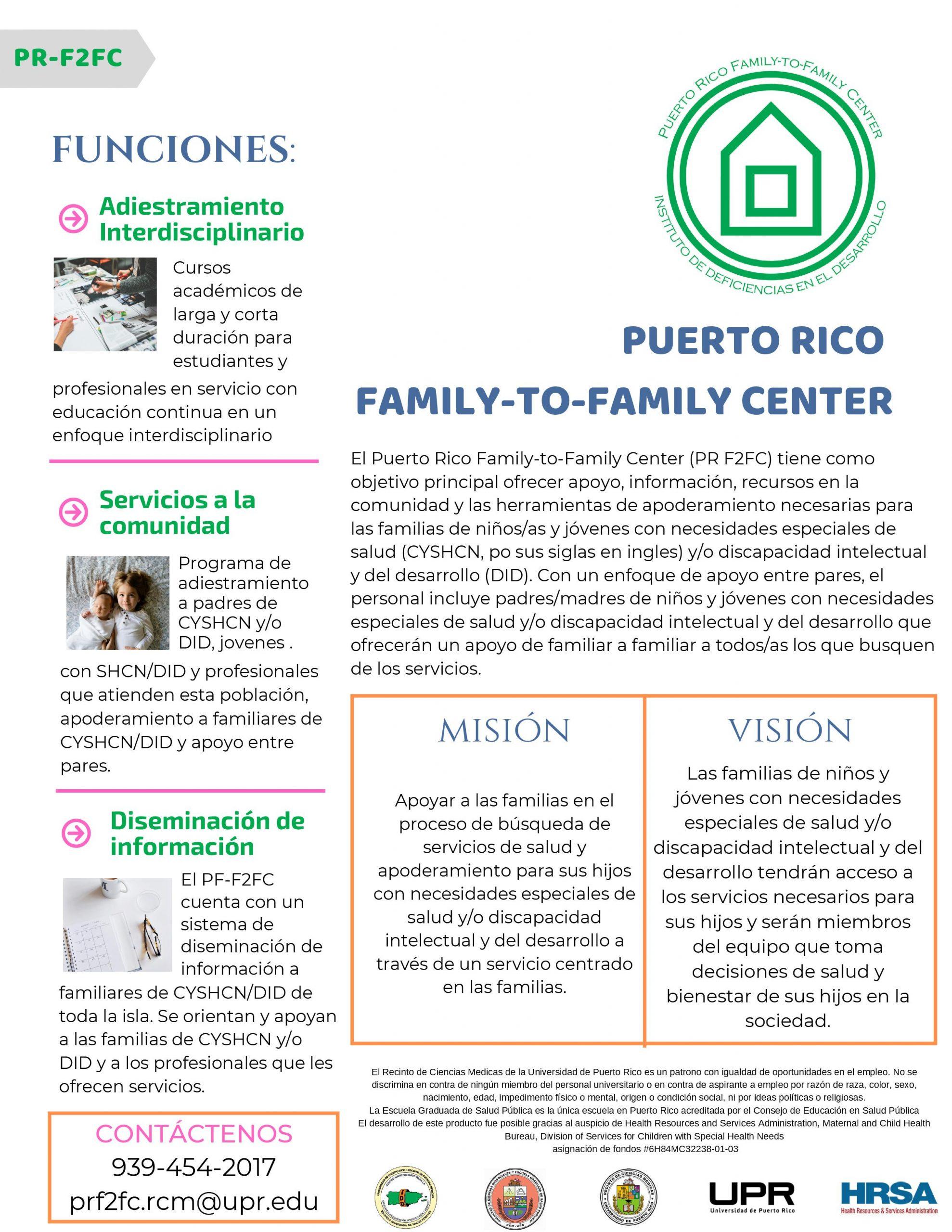 PUERTO RICO FAMILY-TO-FAMILY CENTER