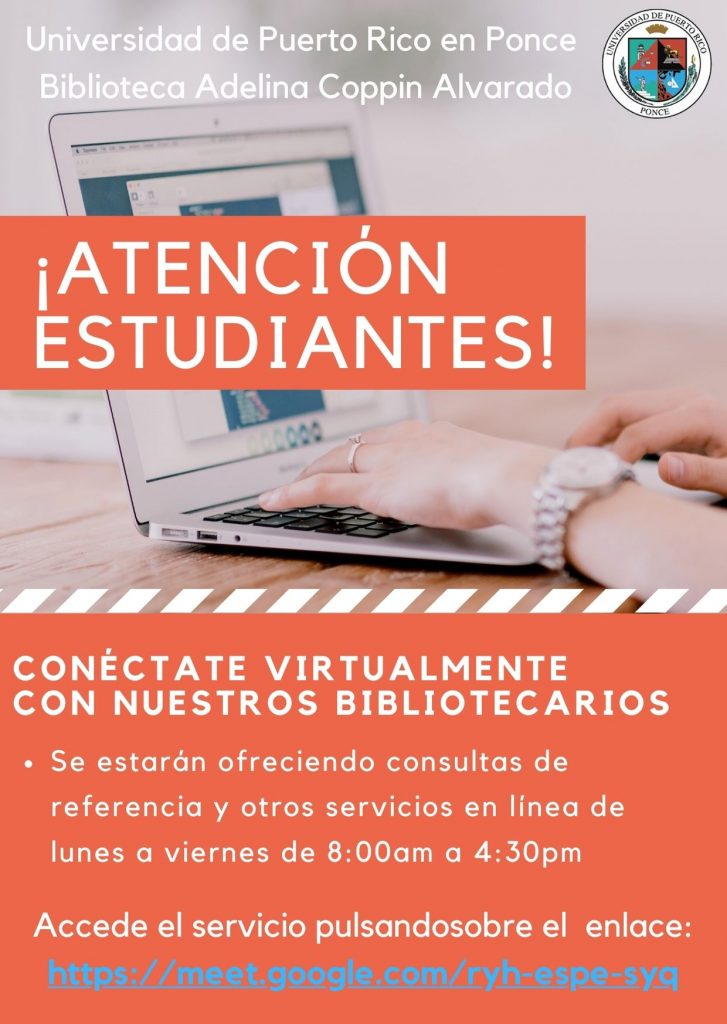 Conectate Virtualmente con nuestros Bibliotecarios