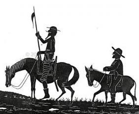 Imagen del Quijote y Sancho