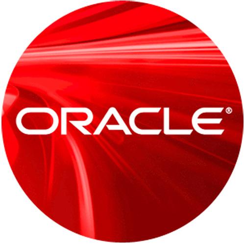 Logo representativo de la compañía Oracle.
