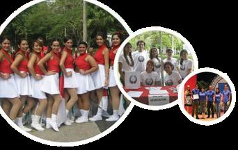 Imágenes de organizaciones estudiantiles en circulos