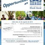 Promoción de oportunidad de investigación en la Universidad de Rhode Island