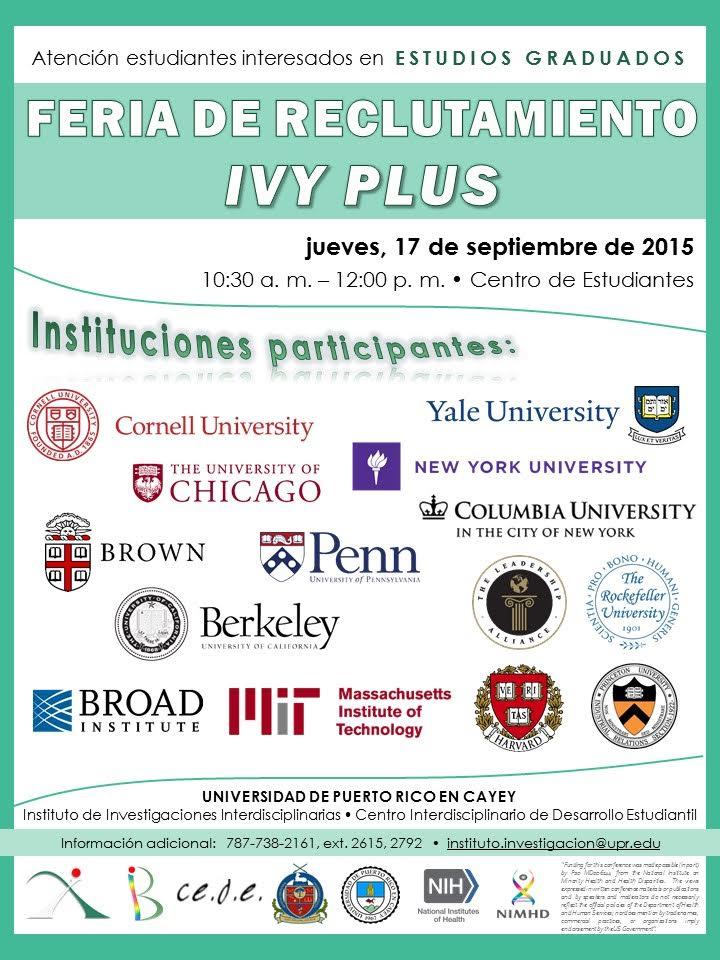 Promoción Feria de reclutamiento IVY PLUS.