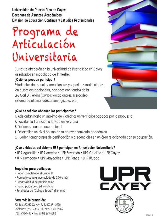 Promoción de la DECEP con ofrecimiento del Programa de Articulación Universitaria