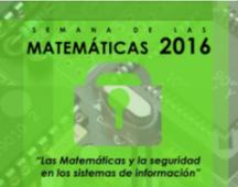 Imagen representativa a la promoción de la Semana de las Matemáticas 2016