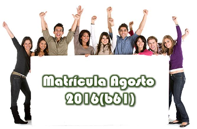 Imagen representativa al proceso de matrícula agosto 2016