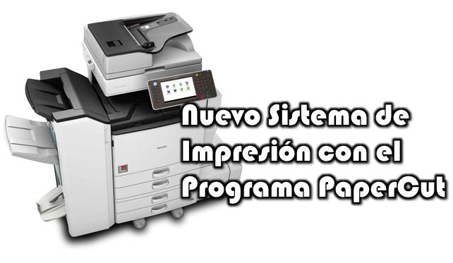 Imagen representativa al nuevo sistema de impresión PaperCut