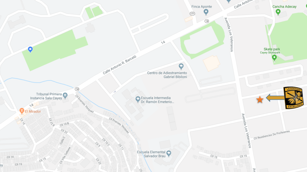 Mapa localización del ROTC
