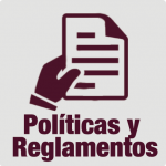 ícono para ver políticas y reglamentos