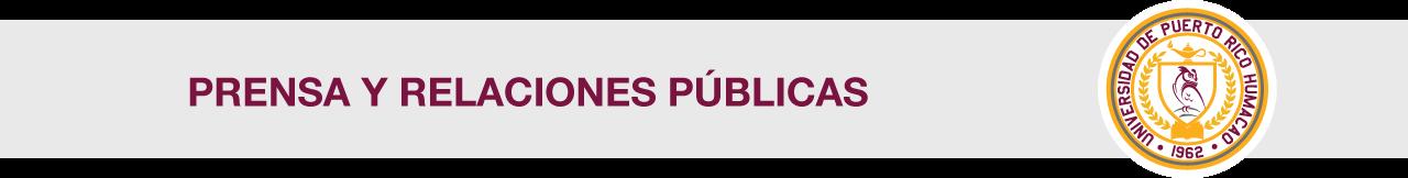 Cintillo de Oficina de Prensa y Relaciones Públicas