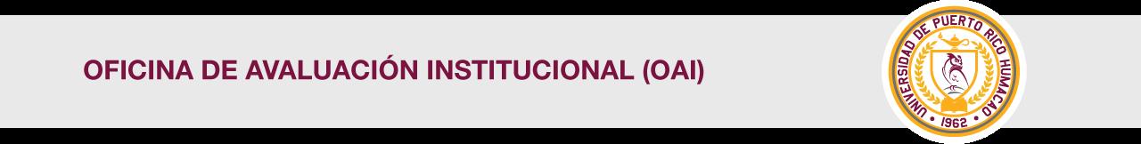 Cintillo de Oficina de Avaluación Institucional