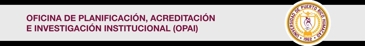 Cintillo de Oficina de Planificación, Acreditación e Investigación Institucional