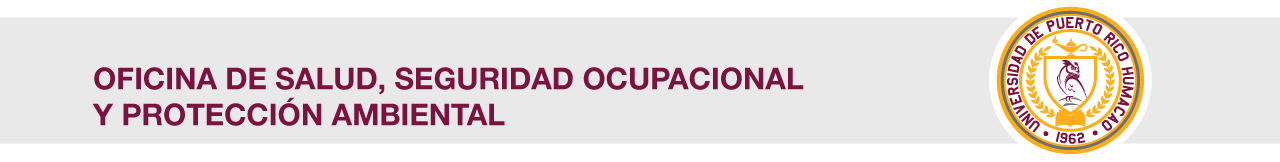 Cintillo de Oficina de Salud, Seguridad Ocupacional y Protección Ambiental