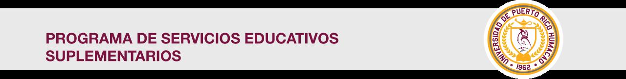 Cintillo del Programa de Servicios Educativos Suplementarios