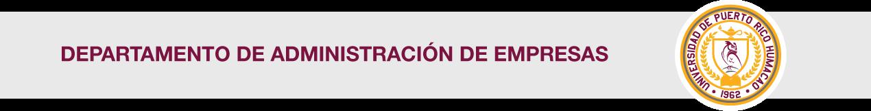 Banner del Departamento de Administración de Empresas