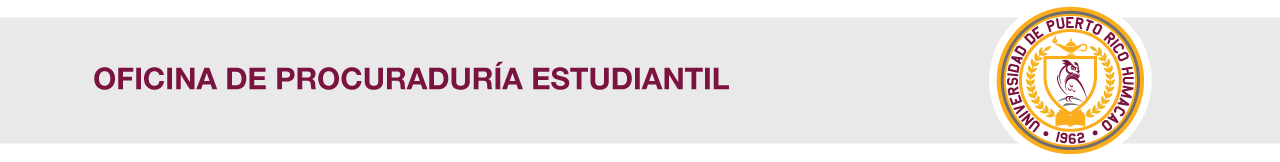 Cintillo de la Oficina de Procuraduría Estudiantil