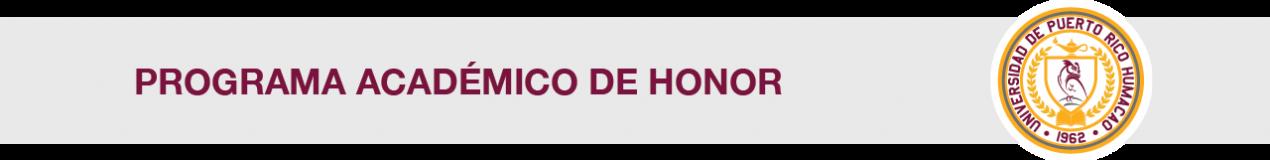 Cintillo Programa Académico de Honor