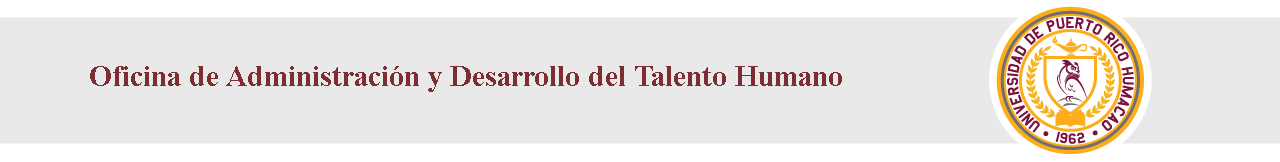 Cintillo Administración Desarrollo Talento Humano