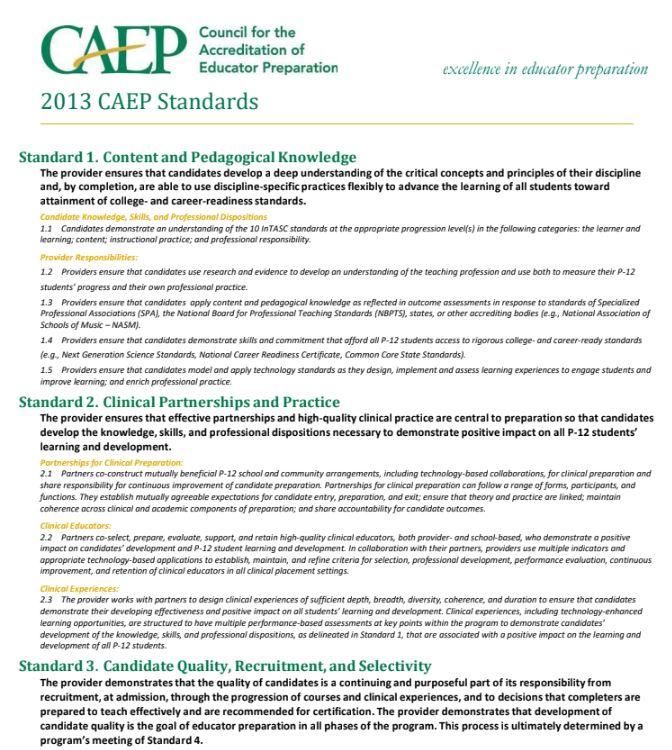 CAEP Standard