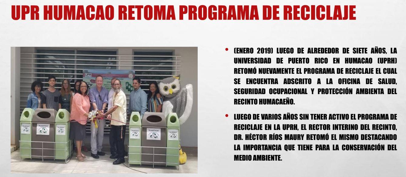 Foto del Programa de Reciclaje