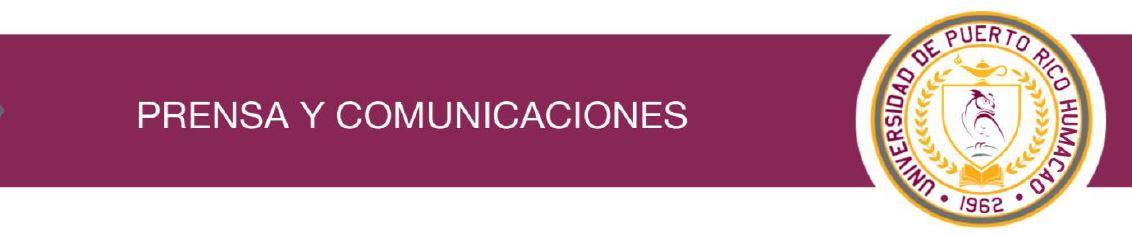Banner de la oficina de prensa y comunicación