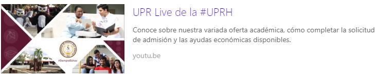 UPR Live de la #UPRH