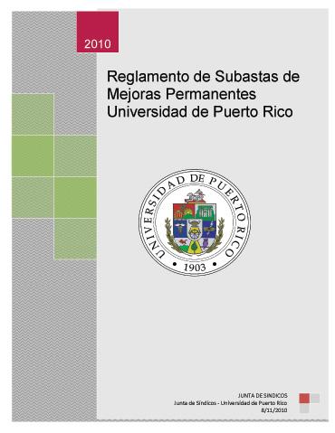 Reglamento Subastas Permanentes UPR