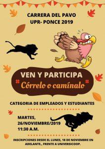 Carrera del Pavo 2019 - Inscripción Online