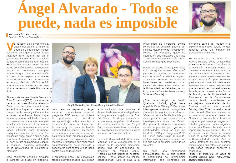 Reportaje Periódico El Sol