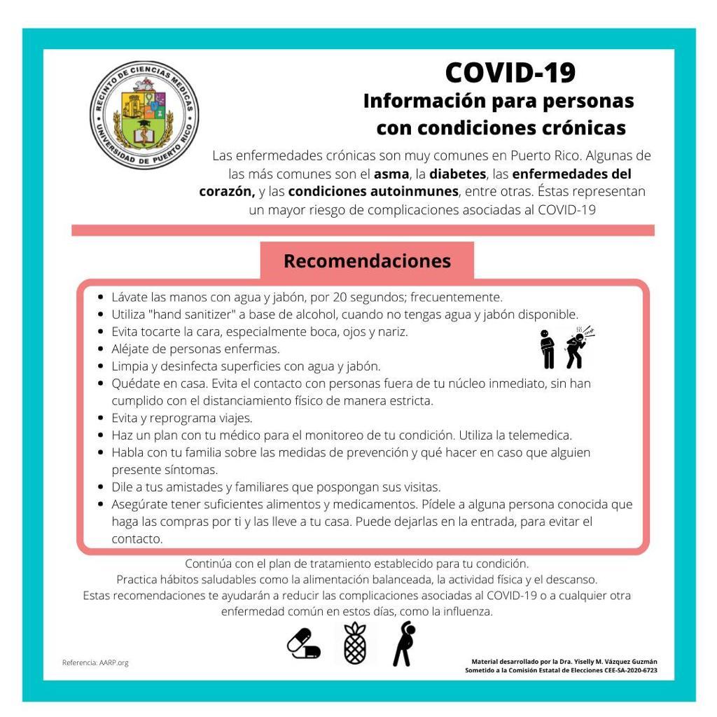 Recomendaciones Enfermedades cronicas covid19