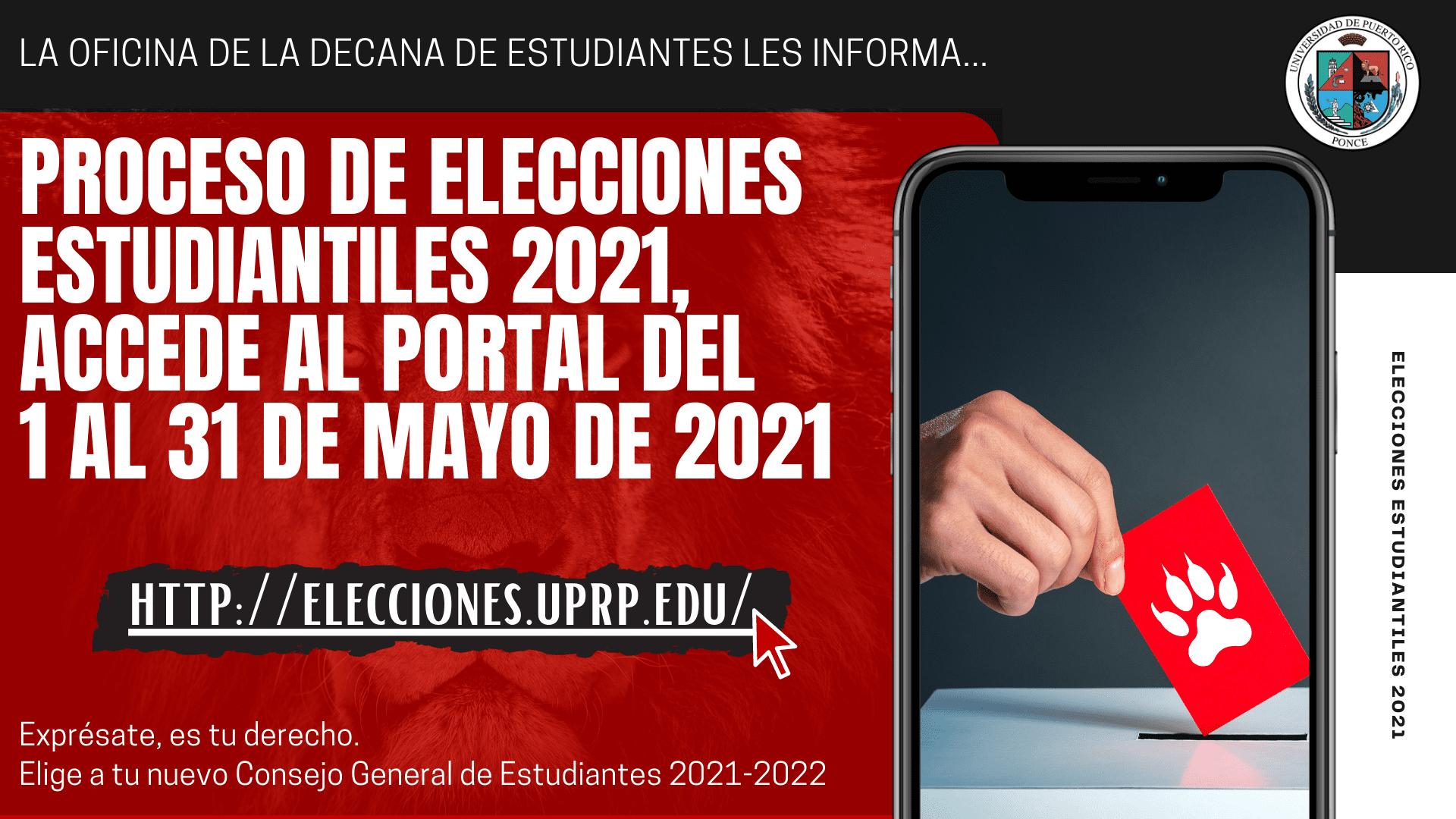 Proceso de Elecciones Estudiantiles 2021