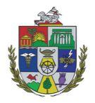 escudo de la admnistracion central UPR cordero sobre la bibliar hojas laurel bordeando abajo