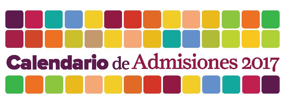 Calendario Admisiones 2017 banner