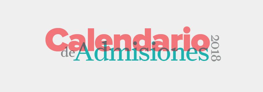 Calendario de admisiones header 2017