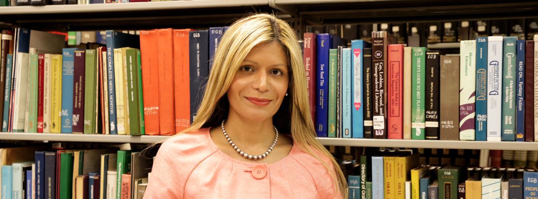 Loida García-Febo, presidenta electa de la Asociación de Bibliotecas de los EE.UU (Foto por Ashlee Cruz Lebrón)