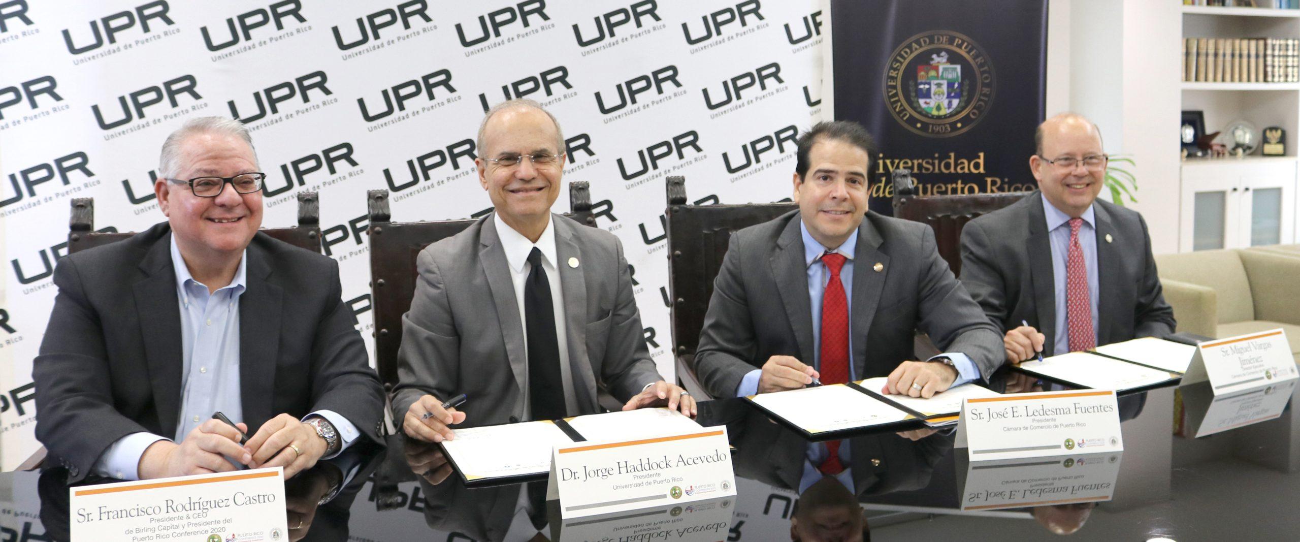 """Universidad de Puerto Rico, Cámara de Comercio de Puerto Rico y Birling Capital firman Memorando de Entendimiento para crear la iniciativa Transformando a Puerto Rico como parte del """"Puerto Rico Conference 2020"""""""